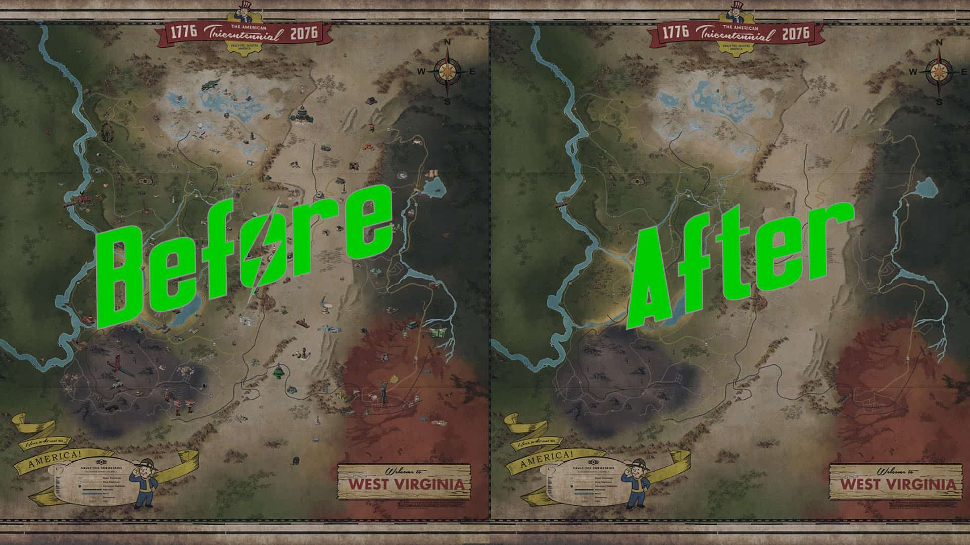 Picture of: Simple World Map No Icons Fallout 76 Mod Download