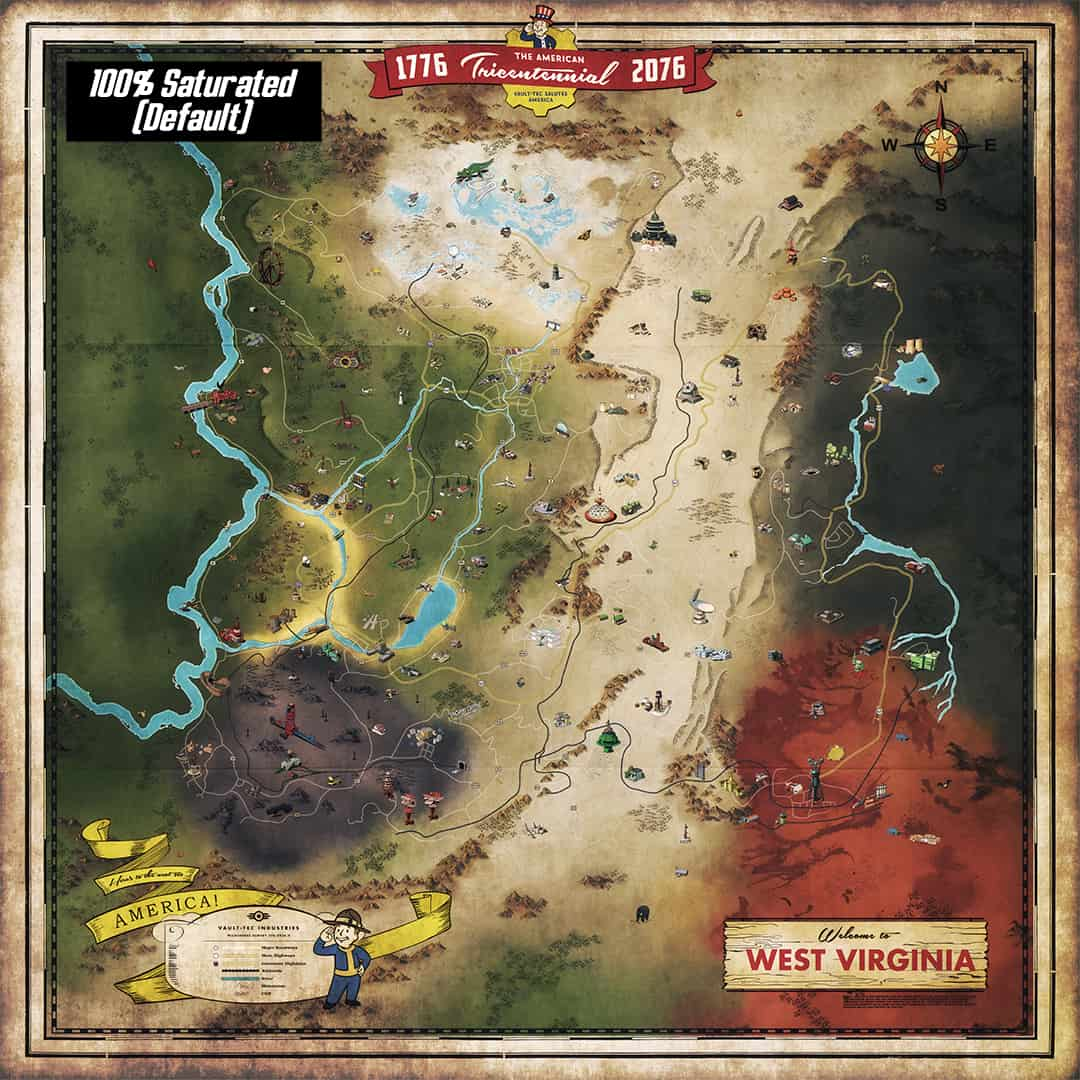 Map Of America Fallout.Ultimist S High Detailed Map Fallout 76 Mod Download
