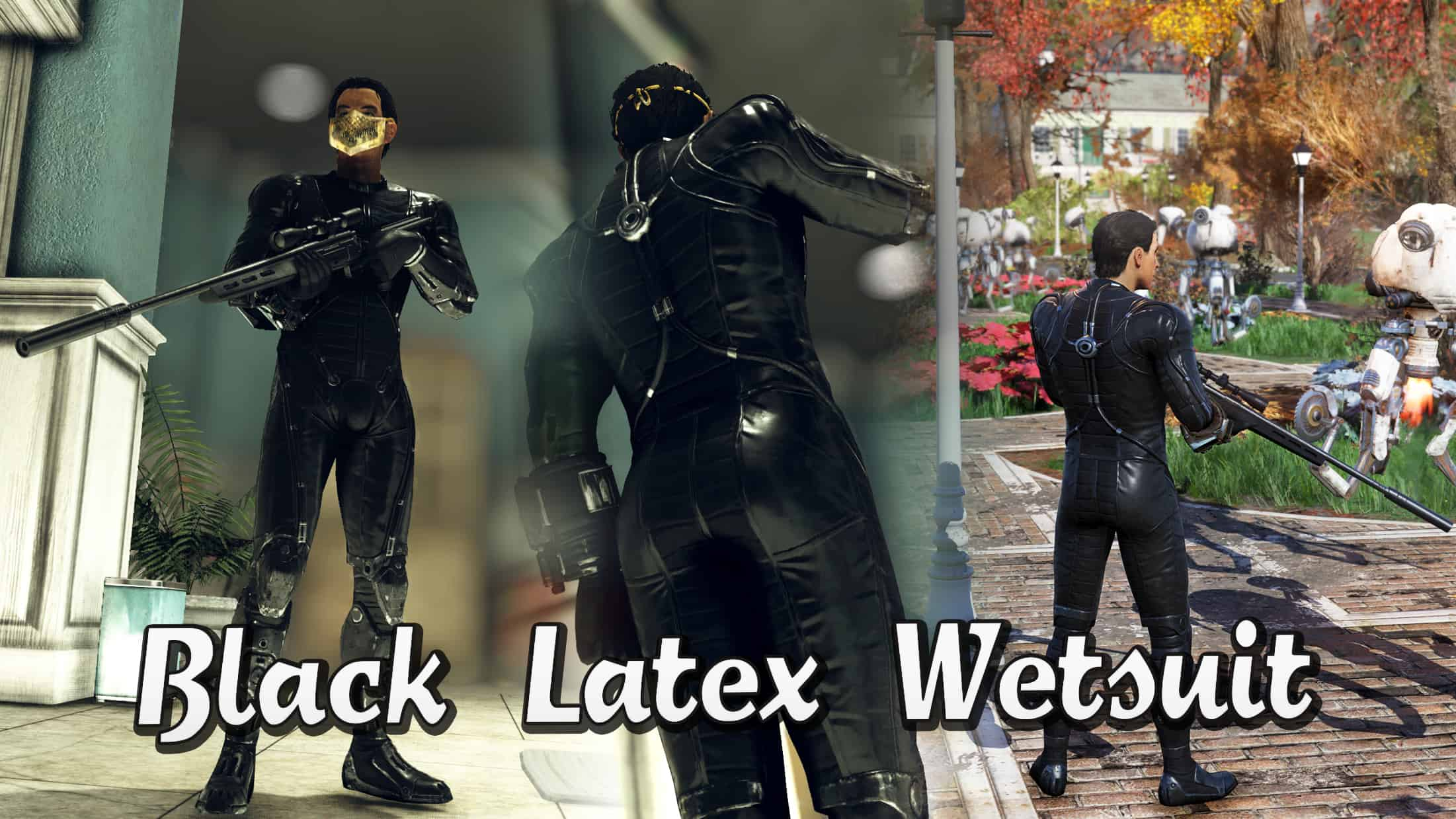 Black Latex Wetsuit - Fallout 76 Mod download