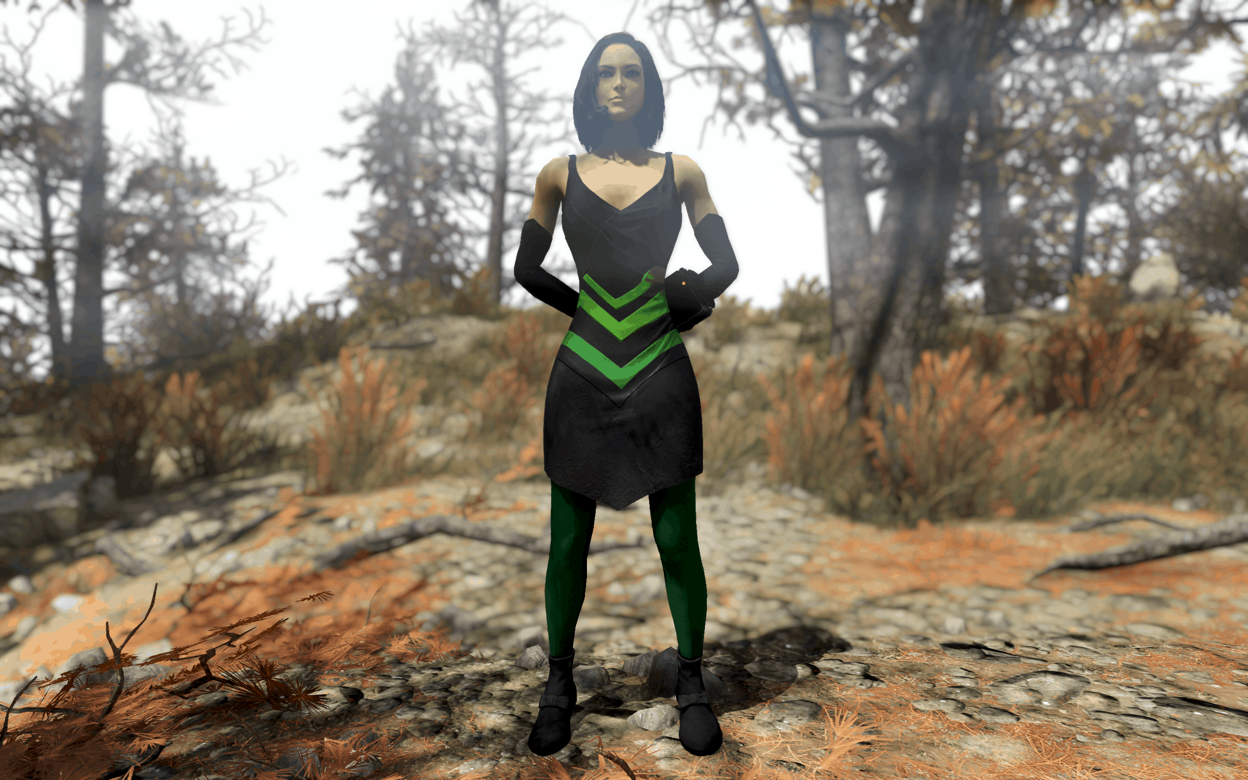 Tattered Dress - 4k Multicolored Edition - Fallout 76 Mod