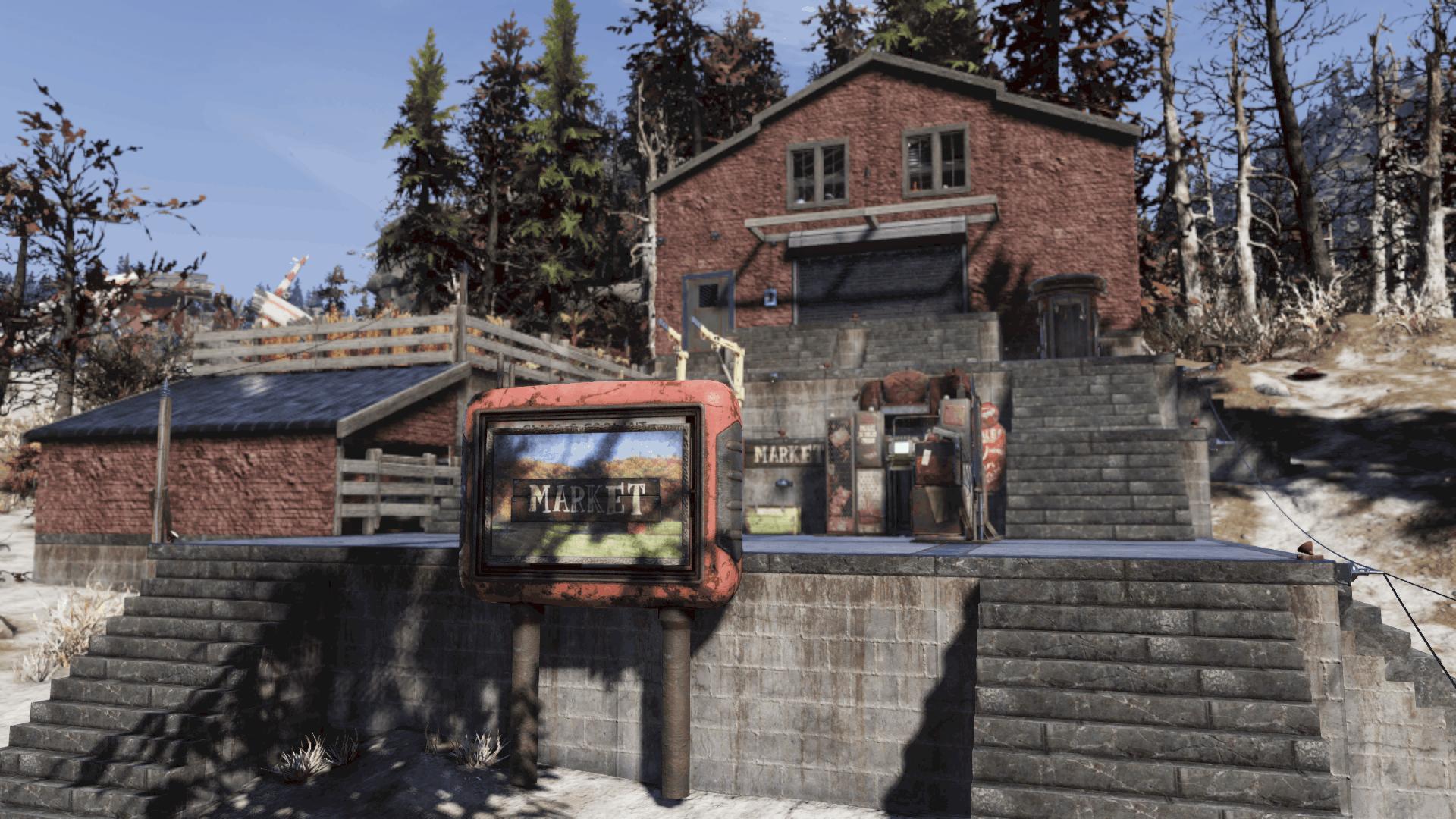 Brick Rolling Garage Door Exterior Fallout 76 Mod Download